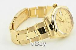 1980 Vintage Men's Rolex Date 14k Yellow Gold Rivet Bracelet Watch 1503 Watch