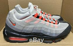 2011 Nike Air Max 95 White Solar Red Cool Grey Black Pink Atmos 1 609048-106 14
