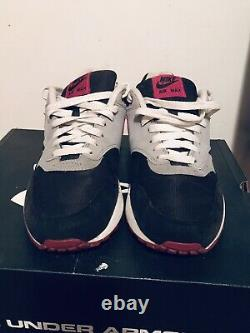 2012 Women's Nike Air Max One Black Rave Pink Wolf Grey Size 10.5 Used NDS