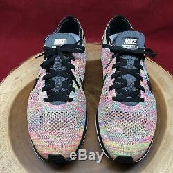 2013 Nike Flyknit Racer Multicolor 1.0 Grey Black Blue Glow Pink 526628-004 11