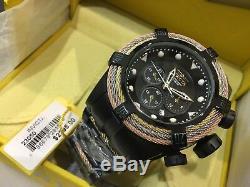 23050 Invicta 53mm Bolt Zeus Tri Cable Swiss Quartz Chron Bracelet Watch