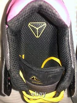 AXION Footwear Mandela skate shoe suede leather Black yellow pink gray men sz 9