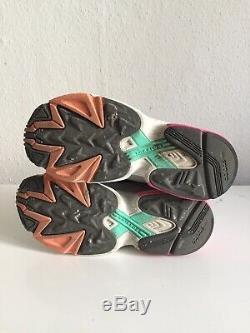 Adidas Falcon Size 6 Grey Pink Black