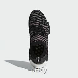 Adidas Mens NMD R1 STLT PK Core Black/Grey/Solar Pink SZ 14 CQ2386 Boost