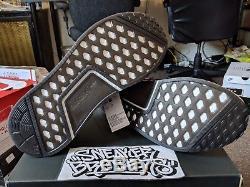 Adidas NMD R1 STLT PK Primeknit Boost Core Black Grey Solar Pink Men's CQ2386