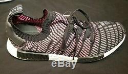 Adidas NMD R1 STLT PK Primeknit CQ2386 Black Grey Solar Pink Mens sz 10