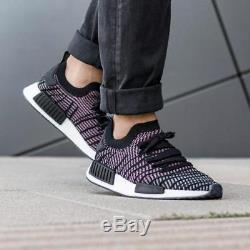 Adidas Nmd R1 Stlt Pk Primeknit Boost Hi res Pink Black Grey
