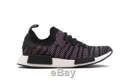 Adidas NMD R1 Stlt PK Primeknit Boost Hi-Res Pink Black Grey CQ2386 Men 7.5-13