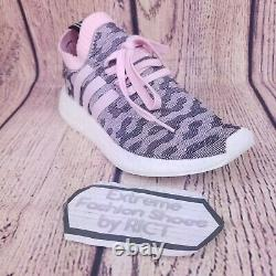 Adidas NMD R2 Primeknit Womens Shoes Size 9 Pink Gray Black White Boost BY9521