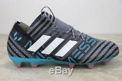 Adidas Nemeziz Messi 17.1 FG Soccer Cleat Grey Pink Blue Black CP9028 Multi Size