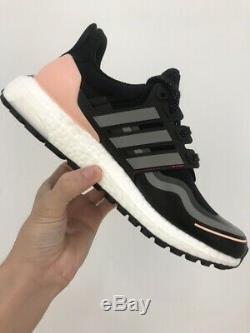 Adidas UltraBOOST Guard Trail Running Black Grey Pink FU9465 Women's Size 8 9