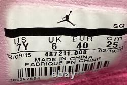 Air Jordan 10 Retro GS Vivid Pink 487211-008 Grey Black Pink Size 7Y