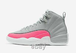 Air Jordan 12 Retro (gs) Wolf Grey / Racer Pink -black 510815 060 Sz 5y