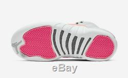 Air Jordan 12 Retro (gs) Wolf Grey / Racer Pink -black 510815 060 Sz 7y