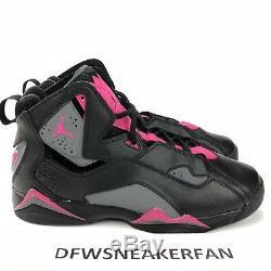 Air Jordan True Flight VII Size 8.5Y= Womens 10 Black Grey Pink 342774-009