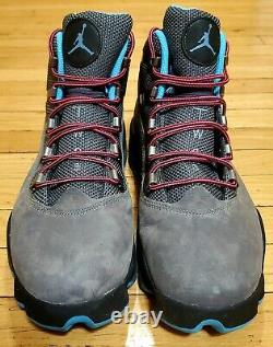Air Jordan Winterized 6 Rings Mens Size 12 Two 3 Grey Black Blue Hot Pink Laces
