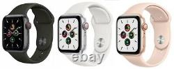 Apple Watch SE 40mm 44mm GPS + Cellular Unlocked 4G LTE Gold Space Gray Silver
