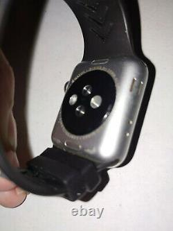 Apple Watch Series 3 38mm A1860 Space Grey GPS + Cellular. Generic Black Band