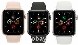 Apple Watch Series 5 40mm 44mm GPS + Cellular 4G LTE Gold Space Gray Silver MINT