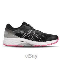 Asics Gel-Kayano 26 Lite-Show Black Grey Pink Women Running Shoes 1012A589-001