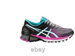 Asics Womens Gel Kinsei 6 Black Pink Grey Neutral Running Shoes Size T694N-9601