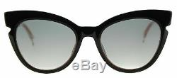 Authentic Fendi FF 0132 N7A Black Crystal Pink Sunglasses Grey Gradient Lens