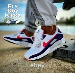 Authentic Nike Air Max 90 Eggplant White Flare Pink Red Grey Black CW1360-100