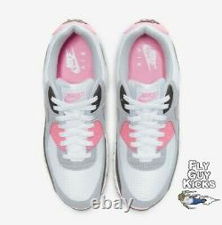 Authentic Nike Air Max 90 White Grey Rose Pink Black OG Off CD0881-101