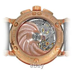 BREGUET 18K Rose /Pink Gold 42mm Marine Chronograph 5827BR Box Warranty MINTY