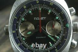 Best Poljot 3133 Chronograph Legendary USSR Russian Military Wristwatch Serviced