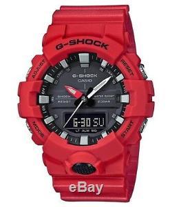 Brand New Casio G-shock Ga800-4a Red/black Ana-digi Mens Watch Nwt