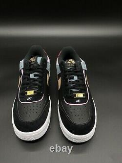 Brand New Nike Air Force 1 Low Shadow W Black/Pink/Teal/Blue/Grey DS Sz 9