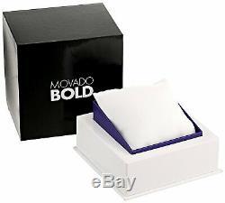 Brand New! Rare Movado Bold 3600544 Gunmetal Grey Black Strap Womens Watch