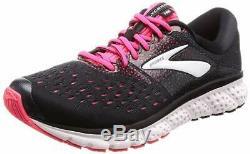 Brooks Women's Glycerin 16, Black/Pink/Grey, 9 B(M) US