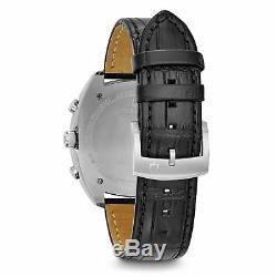 Bulova 98A155 Men's Curve collection Black Quartz Watch
