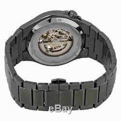 Bulova Classic Automatic Gunmetal Skeleton Dial Men's Watch 98A179