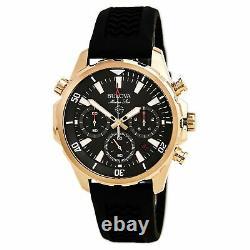 Bulova Men's Chronograph Grey Dial Black Silicone Strap Watch 97B153