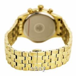 Bulova Men's Quartz Chronograph Gold-Tone Date Display 43mm Watch 97B149