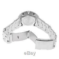 Bulova Men's Quartz Crystal Accents Gray Dial Silver Tone 43mm Watch 96B221