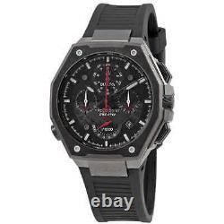 Bulova Precisionist Chronograph Quartz Black Dial Men's Watch 98B358