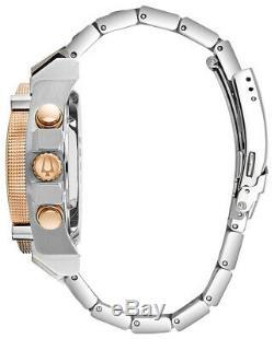 Bulova Precisionist Men's Quartz Two-Tone Bracelet 46mm Watch 98B317
