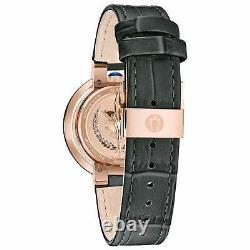 Bulova Rubaiyat Women's Quartz Diamond Accents Rose Gold Tone 35mm Watch 98R268