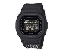 Casio BABY-G BLX560-1 G-Lide Matte Black Digital Tide Graph Men's Sports Watch