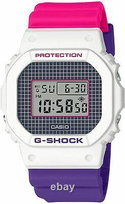 Casio G-SHOCK DW5600THB-7 Military & Pink Purple Resin Strap Digital Men's Watch