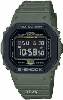 Casio G-SHOCK DW5610SU-3 Military Green & Black Resin Strap Digital Men's Watch