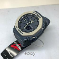 Casio G-Shock CasiOak Navy Blue Grey Earth 2100 Series GA2110ET-2A Watch GA-2110