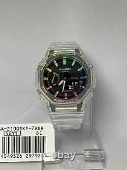 Casio G-shock Watch Ga-2100ske Casioak Rainbow Edition Ga2100 Free Shipping