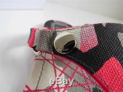 Christian Dior Pink/Black/Grey Camo Print'Anselm' Flat Thong Sandals/Shoes 38