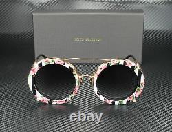 DOLCE & GABBANA DG2198 12988G Pink Gd Blk Rose Grey Grad 63 mm Womens Sunglasses
