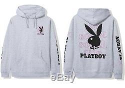 DS Anti Social Social Club FW19 Black Playboy x ASSC Pink Logo Grey hoodie Bape